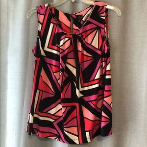 Worthington geometric patterned sleeveless top